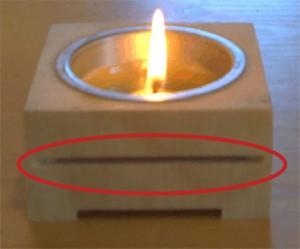 Zirbenholz-Kerzenhalter